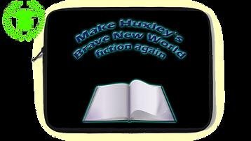 Make Huxley's Brave New World fiction again - laptop cover
