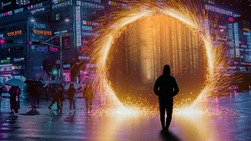 Not Nice Guys - A guy opens a portal in the middle of the street