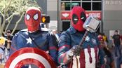 Batman - Captain America - Thor cosplay