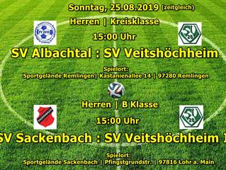 So, 25.08.19  Herren Auswärtsspiele (zeitgleich um 15:00 Uhr)