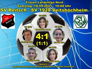 18.09.2021  Frauen Landesliga Nord: SV Reisch - SVV  4:1