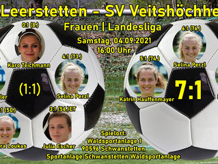 04.09.2021  Frauen I Landesliga:  SV Leerstetten - SV Veitshöchheim 7-1