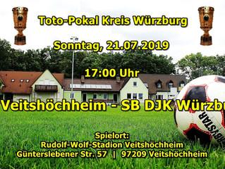 Wir haben in der 2. Runde des Toto-Pokals am Sonntag ein Heimspiel gegen die DJK aus Würzburg.
