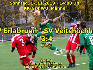So, 17.11.19-14:00 / KK-Gr4 WÜ  Männer:  TSV Erlabrunn - SV Veitshöchheim 3:4(1:2)