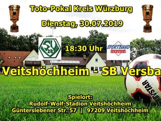 In der 3. Toto-Pokal-Runde treffen wir am Dienstag um 18:30 auf den SV Versbach.