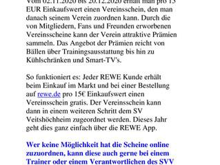 """02.11.2020  REWE - Aktion """"Scheine für Sportvereine"""""""