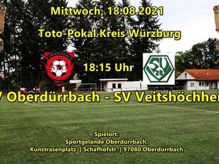 18.08.21 - 18:15 Männer Toto-Pokal: SV Oberdürrbach - SVV