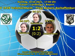 10.10.2021  Frauen Landesliga:  SV 1928 Veitshöchheim - FVgg Kickers Aschaffenburg  1:2