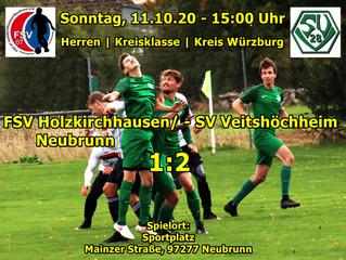 11.10.2020 - 15:00  Die Herren 1 gewinnen in Neubrunn mit 2:1