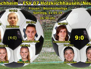 11.05.2019 Frauen BOL: SV Veitshöchheim - FSV 07 Holzkirchh./Neubrunn e.V.  9:0