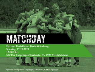 17.10.2021  Spielankündigung Herren Kreisklasse Würzburg