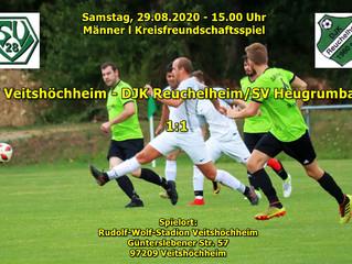 29.08.20  Freundschaftsspiel Männer:  SV Veitshöchheim - DJK Reuchelheim/SV Heugrumbach  1:1
