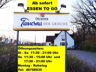 """ESSEN TO GO bei """"Taverna Der Grieche"""""""