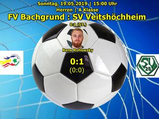 19.05.2019  Herren A-Klasse: FV Bachgrund - SV Veitshöchheim  0:1 (0:0)