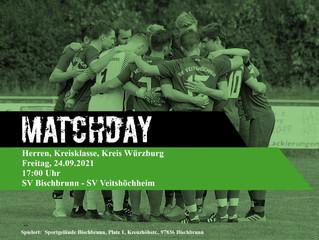 Am Freitag, 24.09.2021 spielen unsere Herren 1 in Bischbrunn