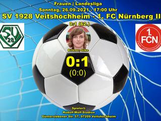 26.09.2021  SVV Damen - 1. FC Nürnberg II  0:1