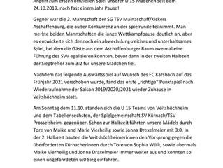 28.10.2020 U15-Juniorinnen Saison 2019/2020/2021