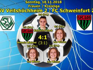 18.11.18  Frauen | Kreisliga: SVV 2 : FC Schweinfurt 2   4:1 (3:1)