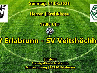 01.08.21-15:00 Spielankündigung Herren: TSV Erlabrunn-SVV