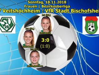 18.11.18  Frauen | BOL: SVV : VfR Stadt Bischofsheim  4:1 (3:1)