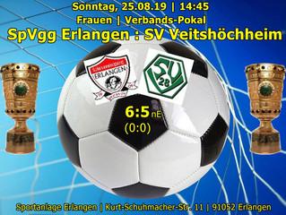 So, 25.08.19   Frauen   Verbands-Pokal:  SpVgg Erlangen : SV Veitshöchheim