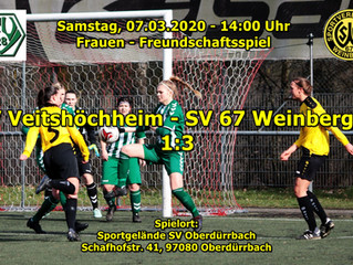 Sa, 07.03.20 / Frauen- Freundschaftsspiel