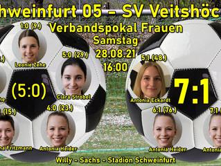 Sa, 28.08.2021  Verbandspokal Frauen: FC Swft 05 - SVV  7:1