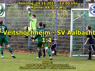 So, 24.11.19 - 14:00 / Männer KK-Gr4 WÜ:   SV Veitshöchheim : SV Aalbachtal  1:1(1:0)