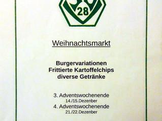3.+4. Advent: SVV Stand auf dem Veitshöchheimer Weihnachtsmarkt
