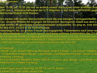 1. Spieltag weibl. C-Jugend