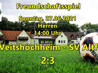 27.06.2021  1. Testspiel: SVV - SV Altfeld 2:3(0:3)