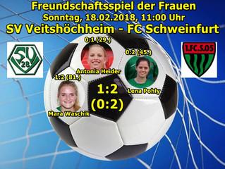 18.02.18  Freundschaftsspiel Frauen: SVV - FC Schweinfurt  1:2 (0:2)