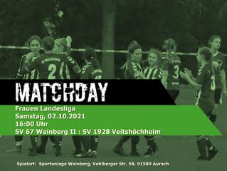 02.10.2021 Auswärtsspiel der Damen gegen Weinberg II