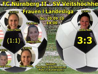 20.09.20 Frauen Landesliga FCN II - SVV  3:3