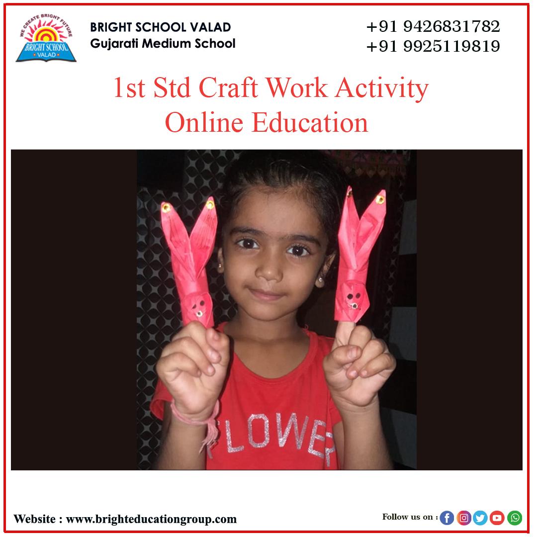 bright school valad Std 1st craft work 3
