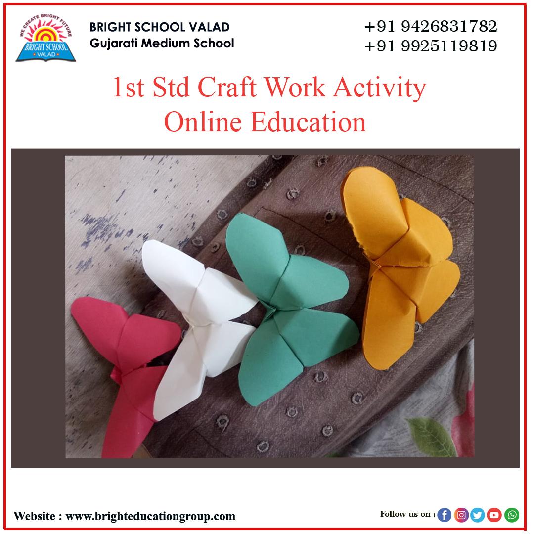 bright school valad Std 1st craft work 2