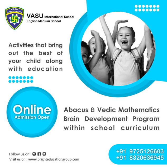 vasu international school admission open