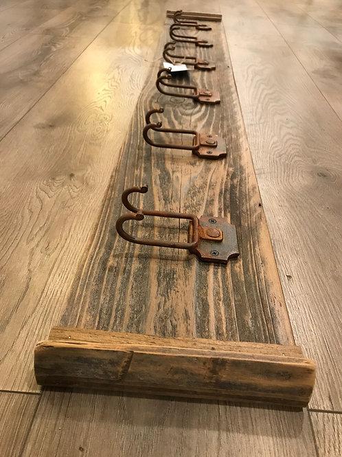 6 cool rusty hooks on reclaimed wood - A2