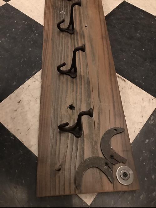 Reclaimed Wood Hooks, metal detail - A1