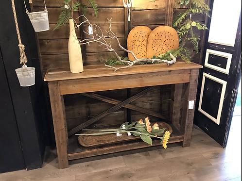 Rustic Accent Table, 1 shelf, X-design - A2