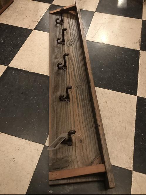 Reclaimed Wood  Hooks, 5 hooks - A1