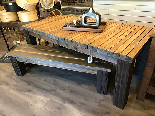 CHUNKY DINING TABLE & BENCH SET - A2