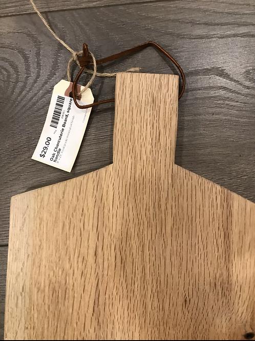Oak Charcuterie Board, square handle - A2