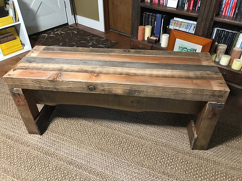 chunky bench – 4x4 reclaimed wood - A1