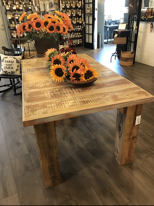Solid Cedar Dining Table - locally made, A2