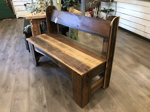 Super Cute Rustic Bench with Back - A2