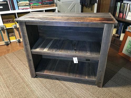 rustic shelf, reclaimed redwood - A1