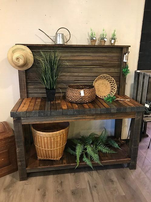 rec. redwood & douglas fir workbench / potting table - A2