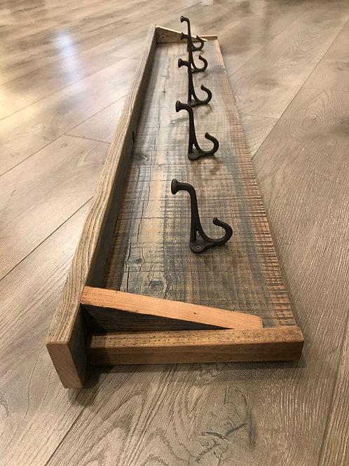 reclaimed wood hooks - 5 hooks - A2