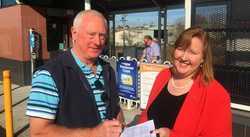 Signing petitions to save the rail
